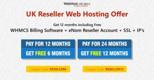 Reseller Hosting Offer: Get additional 12 months including Free WHMCS | ENOM Reseller |SSL/IP's